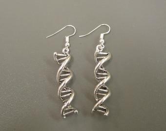 Double Helix Earrings - DNA Earrings - DNA Strand Earrings - Biology Earrings - Science Earrings - DNA Jewellery - Biology Jewellery