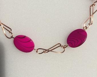 Fuchsia Infinity Necklace