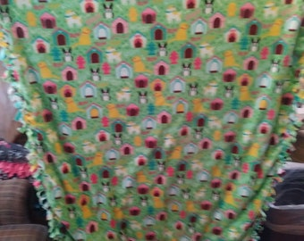 Dogs And kennels tie blanket