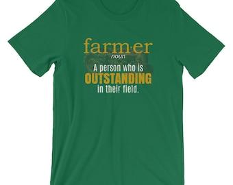 Farmer Shirt, Farmer gifts, outstanding Farmers, Farmer graphic tee, gift for farmers, Farmer funny shirt, Farmers job, Farmers field