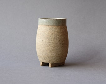 Footed Cup - Transparent Glaze