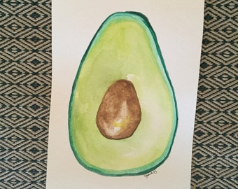 Avacado watercolor