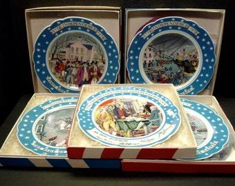 Bi-Centennial of Independence- 5 plates- Commemorative Series - Haviland