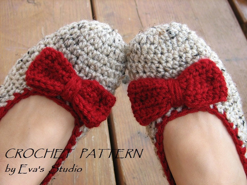 Crochet Pattern Adult Slippers Easy Great For Beginners Shoes