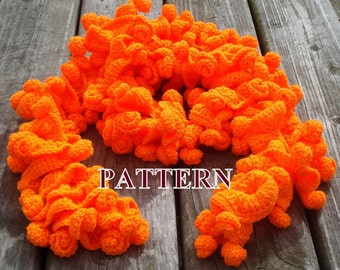 Boa scarf crochet pattern, ruffle scarf pattern, crochet scarf PDF pattern, boa crochet pattern, scarves patterns PDF OlgaAndrewDesigns075