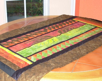 Beautiful harvest table runner or wall quilt