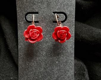 Ramblin Rose Earrings in Scarlet