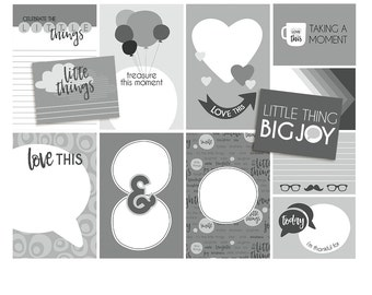 3x4 and 6x4 Pocket Card Project Life Templates : Little Things - 3x4 + 6x4 layered PSD + TIF (jes0524)