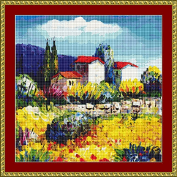 In The Countryside Cross Stitch Pattern - Downloadable PDF Files