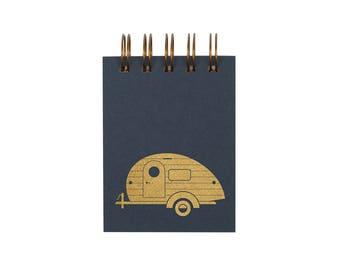 Mini Camper Jotter - Notebook | Journal | Pocket Notebook | Spiral Bound | Blank Pages