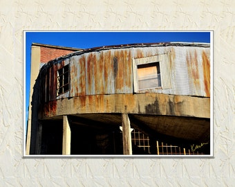Photograph, Abandoned Building, Urban Art Photo, Up Close Architecture Photo, Commercial Photorgrpahy, HistoricKnoxville Tennessee