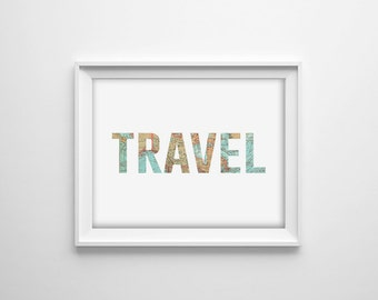 World map quote poster travel print wanderlust typography travel quote print world map wall art map office print map quote print map typography modern map art world map poster travel decor gumiabroncs Choice Image