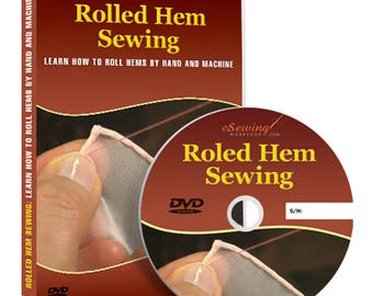 Rolled Hem Sewing Video Lesson on DVD
