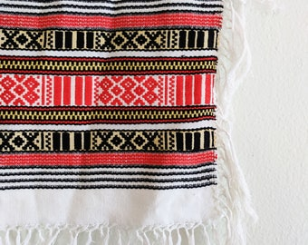 Vintage Woven Central or South American Textile, Vintage Wall Hanging, Vintage Woven Blanket