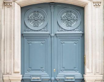 Paris Photography - Paris Blue Door Number 47, Travel Photograph, Paris Architectural Fine Art Print, French Home Decor, Large Wall Art