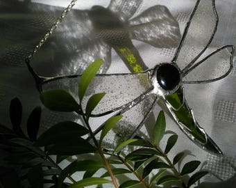 Handmade Stained glass  Dragonfly/Mayfly for Mothers day/Thank you/Birthday Gifts