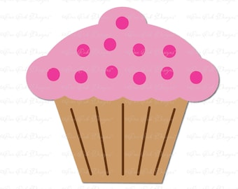 Cupcake SVG File / DXF / PDF / jpg / png  svg file for Cameo Cricut & other electronic cutting machines