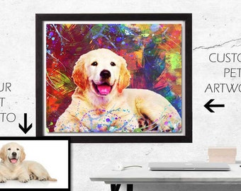 Custom Pet Art, Custom Pet Portrait, Custom Dog Art, Custom Cat Art, Personalized Pet Art, Pet Pop Art, Pet Memorial Art, Pet Tribute, Pets