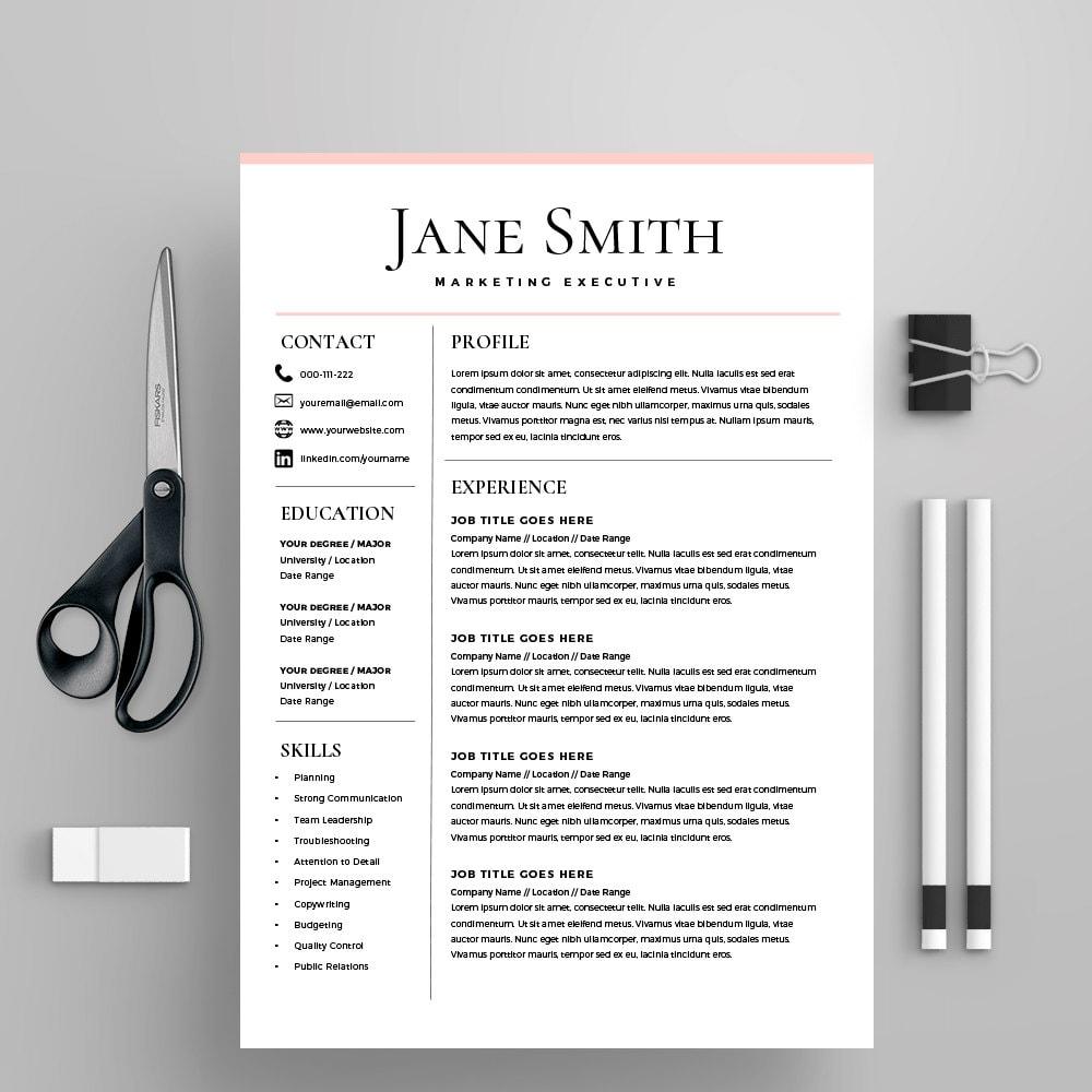 Lebenslauf Vorlage CV Vorlage Anschreiben MS Word auf