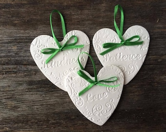 Clay ornaments, set of Holly Spirit fruits, Home decor