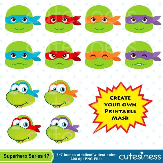 Ninja Turtle Face Clipart