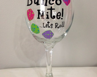 Bunco Wine Glass