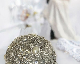 Ready to Ship Brooch Bouquet, All Brooch Bouquet, Bridal Bouquet,