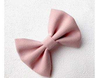 Pink old bow Barrette