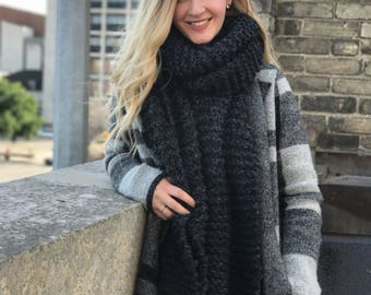 Knit Superscarf // Long Open Ended Knit Scarf