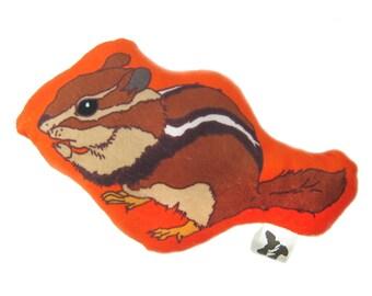 Chipmunk Plushie, Stuffie, Mini-Pillow, Super Soft, Baby Gift, Woodland Lover Gift