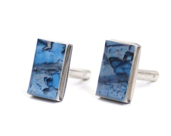 CUFFLINKS - Cuff Links, Personalized Cuff Links, Groom Cufflinks, Wedding Cufflinks, Paint