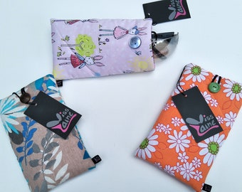 Padded phone cover ,sunglass case, cell phone cover, ipod case , gadget case. phone sleeve protector
