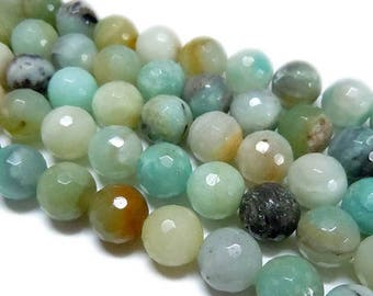 6mm Natural Amazonite Beads Faceted Round 6mm Amazonite 6mm Faceted Amazonite Faceted Gemstone Faceted Beads Faceted Mala Faceted Mala Beads