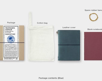 NEW 2018 Blue Edition Traveler's Notebook - Passport Size