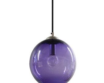 HYACINTH Gumball Hanging Art Glass Pendant Diffuser Globe Light by Rebecca Zhukov