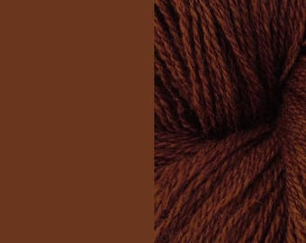 Wool Yarn, brown, DK, 3-ply worsted knitting yarn 8/3 100g/250m
