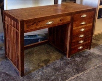 Aged- Salvaged Wood Desk (Made to Order)