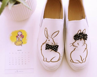 3D Bunnies - black and white