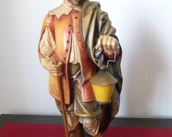 Basswood polychrome sculpture. Hand painted.