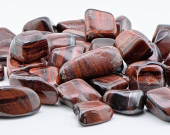 Red Tiger Eye Tumbled Gemstone - Stone of Passion