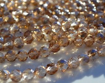 Crystal Celsian Renaissance Fire Polish Round Czech Glass Beads  25