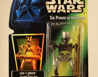 Star Wars The Power of The Force ASP-7 Droid