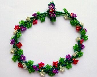 Lilac Garland  Beaded Bracelet