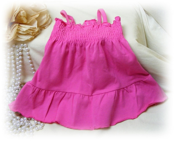 Adorable Handmade (SMALL+) DOG DRESS  . . Doggie Sundress . . Adorable in Pink . . (Custom Clothes Orders Welcome)