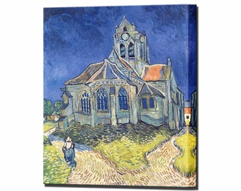 Van Gogh Church at Auvers Canvas Print Wall Decor Vincent Van Gogh Wall Art Fine Art Print Ready to Hang