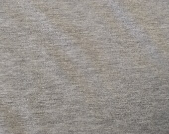 100% Cotton Heather Grey French Terry Fabric by the yard (295)