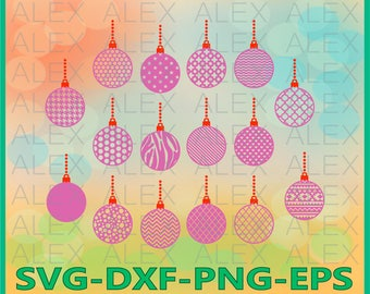 70 OFF Ball Svg Christmas Balls Png Eps Dxf Xmas Silhouette Files Cut File