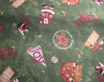Hugs & Holly Santa Fabric