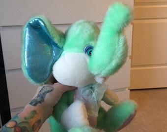Vintage Mint Green Elephant Plush toy