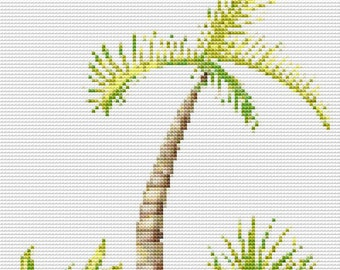 Cross Stitch Pattern, Cross Stitch Patterns, Cross Stitch, Counted Cross Stitch, Cross Stitch Chart, Xstitchpatterns, Cross Stitch Palm Tree